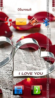 I Love U 10 theme screenshot