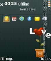 Loveflower es el tema de pantalla