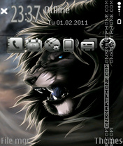 Neon lion 02 theme screenshot