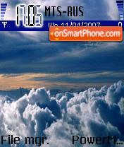 Скриншот темы Clouds