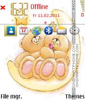 Cute Teddy Bears theme screenshot