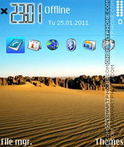 Desert 05 tema screenshot