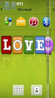 Love Smile tema screenshot