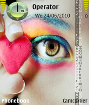 Eye with heart theme screenshot