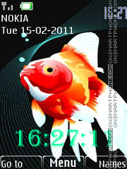 Gold fishes theme screenshot