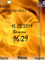 Fire tema screenshot