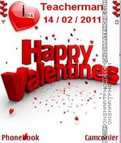 Скриншот темы Valentines Day