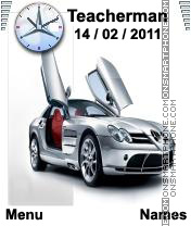 Mercedes SLR theme screenshot