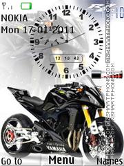 Bike Clock W Signal tema screenshot