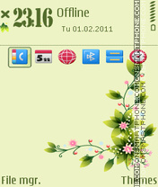 Summer flower 03 es el tema de pantalla