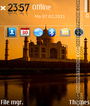 Taj mahal 05 theme screenshot