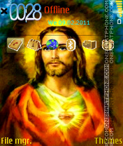 Скриншот темы Jesus 09