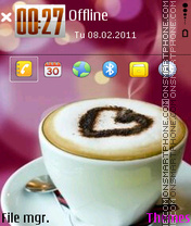 Love coffe theme screenshot
