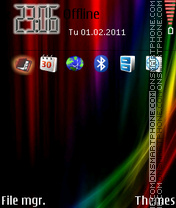 Vista Rainbow Neon theme screenshot