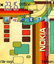 Nokia 7241 theme screenshot