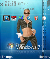 Windows Seven 03 es el tema de pantalla