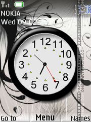 Black Clock 04 theme screenshot