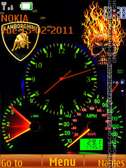Speedometer & Clock theme screenshot