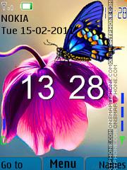 Скриншот темы Flower Clock 06
