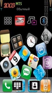 Iphone Icon es el tema de pantalla