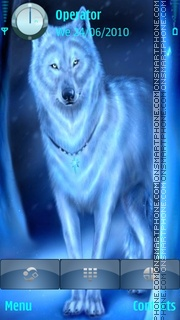 Blue wolf theme screenshot