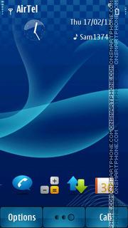 Blue Abstract s^3 theme screenshot