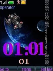 Space anim swf theme screenshot