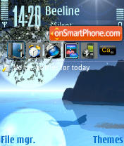 Blue Magic tema screenshot