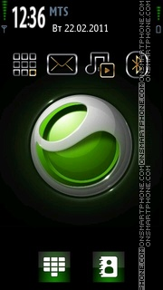 Walkmangreen theme screenshot