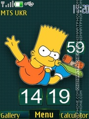Bart simpson theme screenshot