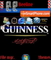 Guinness Beer theme screenshot