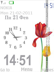 Tulips tema screenshot