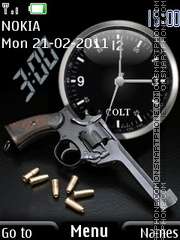Gun and clock theme screenshot