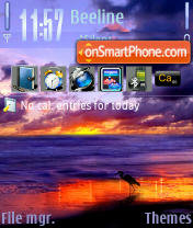 Evening Sea tema screenshot