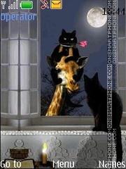 Скриншот темы Night and the moon anim