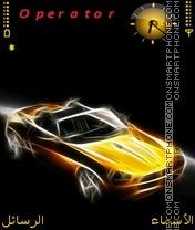 Glowing Car theme screenshot