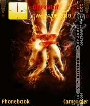 Fire hands tema screenshot