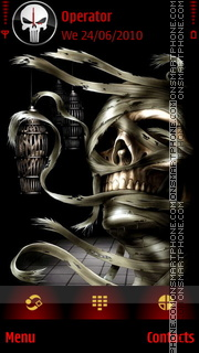 Skull Lamp theme screenshot