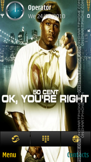 50 Cent - Ok You're Right by di_stef tema screenshot