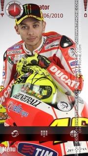 Valentino Rossi Ducati theme screenshot