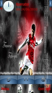 Cesc Fabregas Arsenal theme screenshot