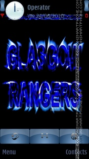 Glasgow Rangers Neon theme screenshot