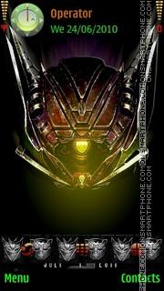 Transformers 3 theme screenshot