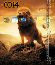 Lion Sunset theme screenshot