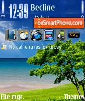 Serenity tema screenshot