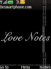Love Notes es el tema de pantalla