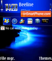 Blue Water 240 yI theme screenshot