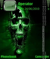 Nokia Theme - Greenskull tema screenshot