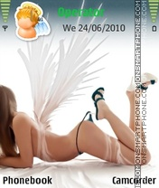 Hot angel tema screenshot