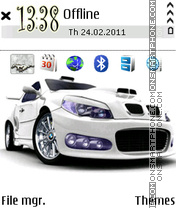 White BMW theme screenshot